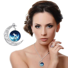 Load image into Gallery viewer, Pendant Necklaces Moon Pendant White Horse Necklace