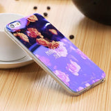 Phone Bumper Flowers / For iPhone 6 6S Modern Blue Ray Clear iPhone Case