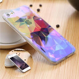 Phone Bumper Gemstone / For iPhone 6 6S Modern Blue Ray Clear iPhone Case