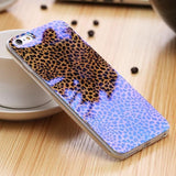 Phone Bumper Leopard / For iPhone 6 6S Modern Blue Ray Clear iPhone Case