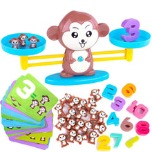 Load image into Gallery viewer, Play & Learn Balance Monkey Game Brown Math Toys