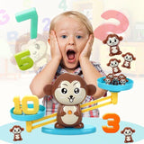 Play & Learn Balance Monkey Game Brown Math Toys