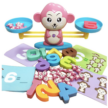 Load image into Gallery viewer, Play & Learn Balance Monkey Game Pink Math Toys