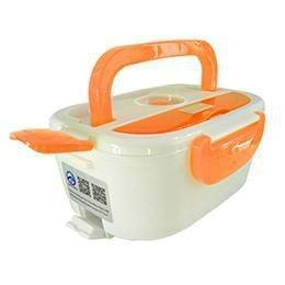 Portable Electric Lunch Box Orange Dinnerware Sets