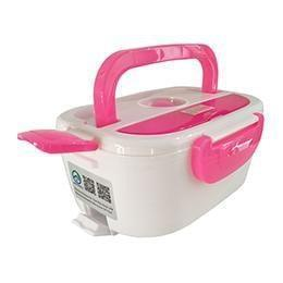 Portable Electric Lunch Box Pink Dinnerware Sets