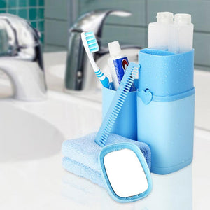 Portable Travel Wash Cup Blue Bathroom Tumblers