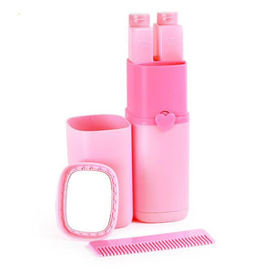 Portable Travel Wash Cup Pink Bathroom Tumblers