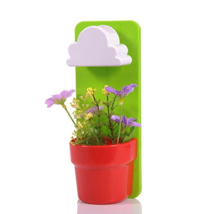 Rain Cloud Watering Pot Green / Red Flower Pots & Planters