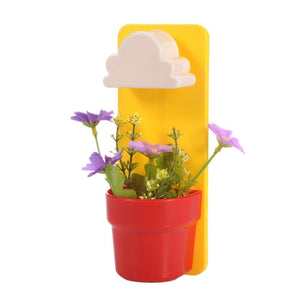 Rain Cloud Watering Pot Yellow / Red Flower Pots & Planters