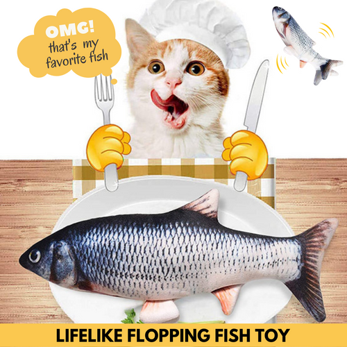 Realistic Cat Kicker Fish Toy Playful cactus roach Cat Toy
