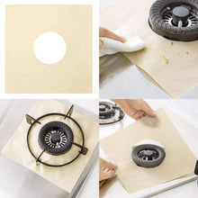 Load image into Gallery viewer, Reusable Stove Protector Covers (4 pcs set) Beige Stove Covers