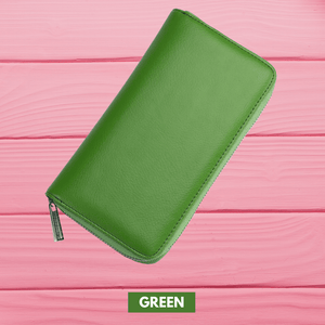 RFID Function - Large Capacity 36 Slots Wallet Green Women Wallet