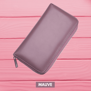 RFID Function - Large Capacity 36 Slots Wallet Mauve Women Wallet