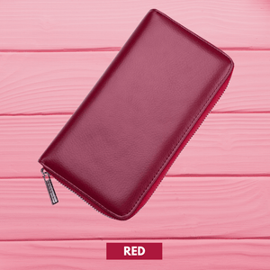 RFID Function - Large Capacity 36 Slots Wallet Red Women Wallet