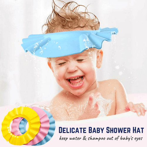 Safe Bath - Baby Shower Cap Blue Shower cap