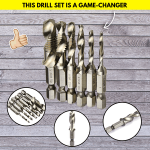 Screw & Tap Drill Bits Set Tap & Die