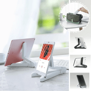 Secure Hold - Foldable Phone & Tablet Holder White Phone Holders & Stands