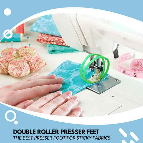 Sew It! Double Roller Presser Foot Sewing Tools & Accessory