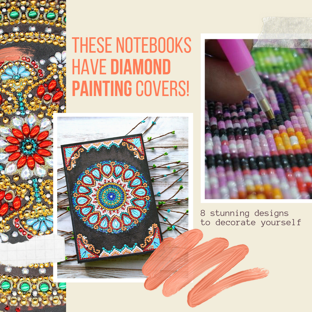 Shine Bright - Diamond Painting Notebook (64 pages) Radial beauty Painting Notebook