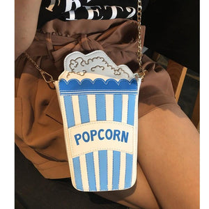 Shoulder Bags blue Cute Popcorn Shape Shoulder Bag
