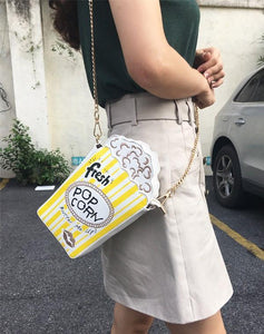 Shoulder Bags Cute Popcorn Shape Shoulder Bag