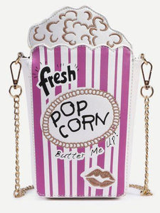 Shoulder Bags new pink Cute Popcorn Shape Shoulder Bag