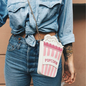 Shoulder Bags pink Cute Popcorn Shape Shoulder Bag