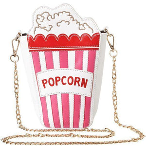 Shoulder Bags red Cute Popcorn Shape Shoulder Bag