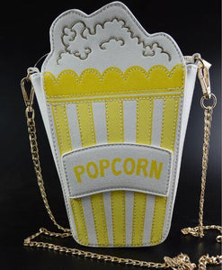 Shoulder Bags yellow Cute Popcorn Shape Shoulder Bag