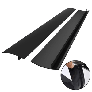Silicone Stove Gap Cover (2PCS) Black Stove Covers