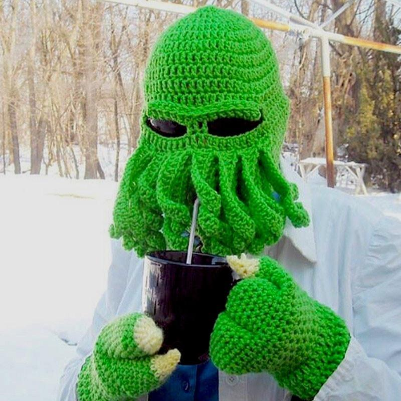 Skullies & Beanies Green OctopuZ Alien Beanie