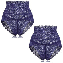 Load image into Gallery viewer, Slender FIT - Lacey Comfy Panty (2 pcs set) Blue / M Control Panties