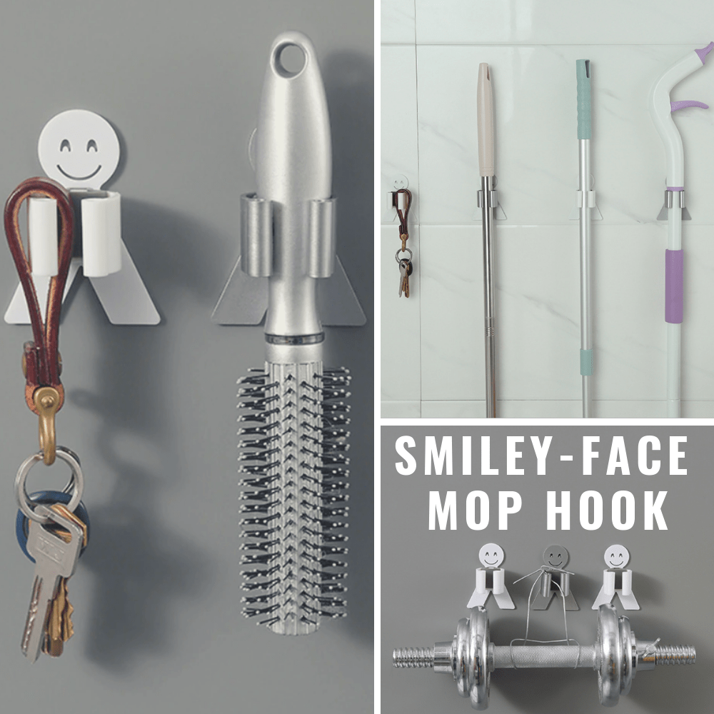 Smiley Hooks - Wall Mounted Organizer Set Gray / 3 pcs set Hooks & Rails