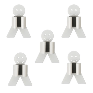 Smiley Hooks - Wall Mounted Organizer Set White / 5 pcs set Hooks & Rails