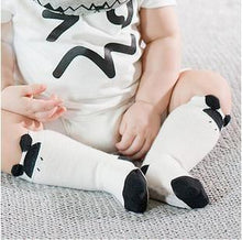 Load image into Gallery viewer, Socks Black / 4-6 months Toddler Knee High Sock