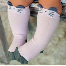 Load image into Gallery viewer, Socks Pink / 4-6 months Toddler Knee High Sock