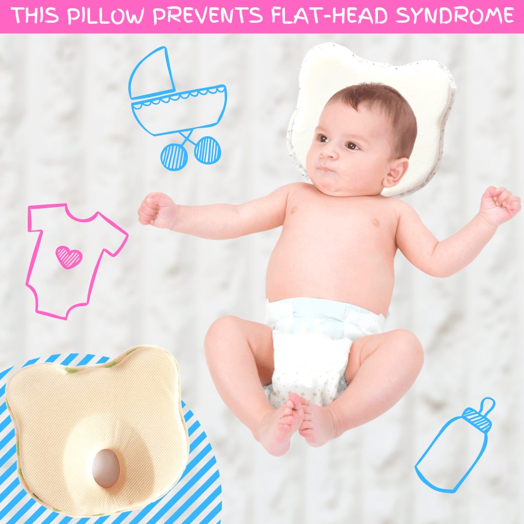 Soft Anti Flat Head Baby Pillow
