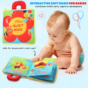 Soft & Interactive Educational Cloth Book My quiet book Cloth Books