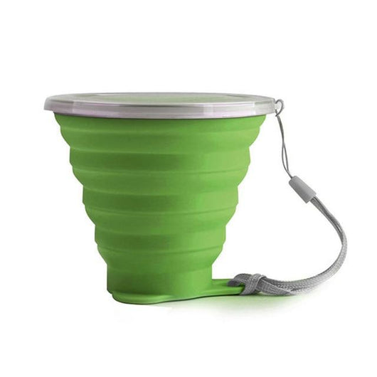 Space-free Collapsible Coffee Mug Green Mugs