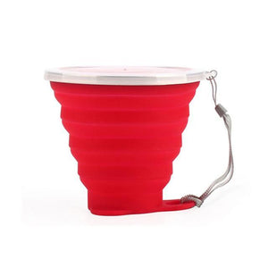 Space-free Collapsible Coffee Mug Red Mugs