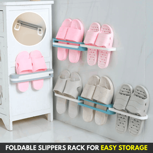 Space Saver - Wall Mounted Slipper Rack Storage Holders & Racks