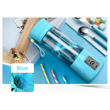Load image into Gallery viewer, Squeezers & Reamers Blue HYPERSHAKER - Portable USB Personal Blender