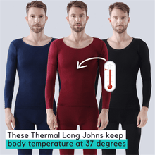 Load image into Gallery viewer, Stay Warm - Elastic Thermal Inner Wear (2 pcs set) Men - red Thermal Innerwear