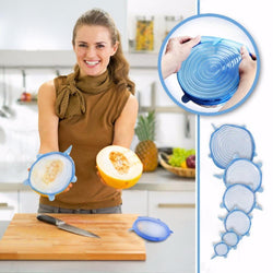 Stretch & Fit - Silicone Stretch Lids (6pcs) Blue Kitchen