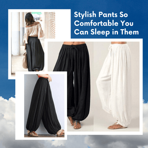 Style-on-the-Go! Harem Pants [Most Popular] Black + White / S Harem Pants