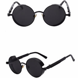 Sunglasses Matt Black with black Industrial Steampunk Sunglasses