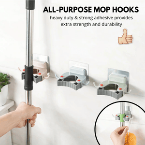 Super Hooks - All-Purpose Mop Hooks Assorted set Mop Hooks