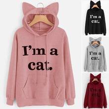 Load image into Gallery viewer, Sweatshirts Pink I'M A CAT - Cat Ear Hoodie Sweatshirt