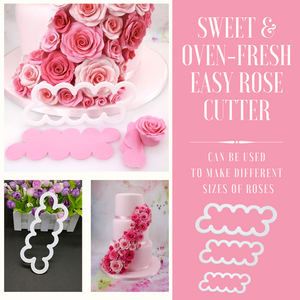 Sweet & Oven-Fresh Rose Cutter (3 pcs set) Cake Molds