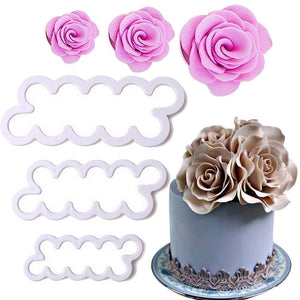 Sweet & Oven-Fresh Rose Cutter Cake Molds
